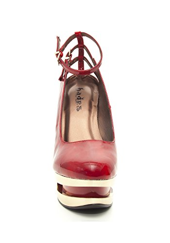 Pump Shoes Iceberg Patent Hades Wedge Sheen Red Leather qxWwPO6YTO