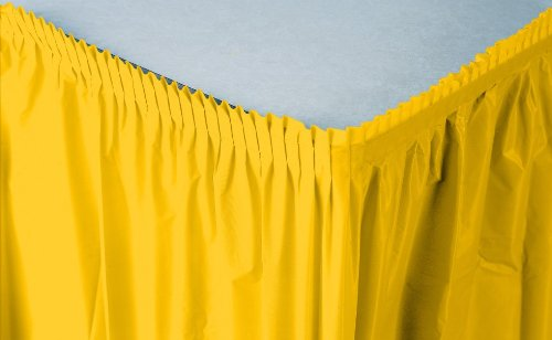 Creative Converting Plastic Table Skirt, 14-Feet, School Bus Yellow ()