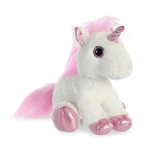"Aurora World Sparkle Tales Pink Unicorn 12"""