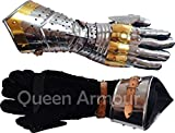 Queen Armour Medieval Articulated Gauntlets Gloves