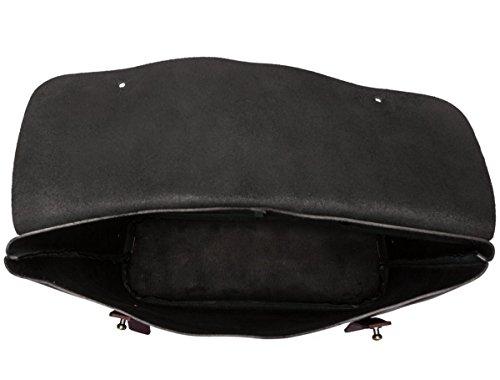 negro y burdeos Liso Cuero Mochila ASQUITH diseño de SMITH&Canova