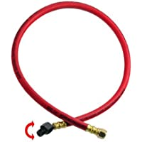 Heavy- Duty Rubber Air Whip Hose Swivel & Rotate Ball Fitting 1/4 by Industrial Tools