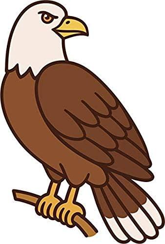 simple classic brown bald eagle cartoon truck car bumper sticker vinyl  decal 5
