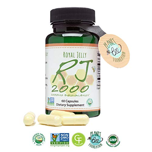 GREENBOW Royal Jelly 2000mg Equivalency - Non GMO Made with Organic Royal Jelly - One of The Most Nutrition Packed Diet Supplements - (60 Vegan Capsules)