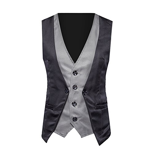 TANGSen Men Formal Tweed Check Vest Bussiness Double Breasted Fashion Waistcoat Retro Slim Fit Suit Jacket - Tweed Jessica Blazer