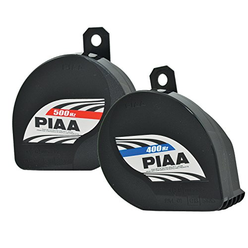 PIAA 85114 Slim Line 400Hz + 500Hz 112db Sports Horn Kit (Car Bulb Horn)