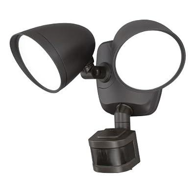 Vaxcel T0171 Tau Smart Lighting 2-Level LED Motion Sensor Security Light, Bronze Finish