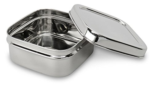 Lifestyle Block Eco-Friendly Stainless Steel Snack Container - Small