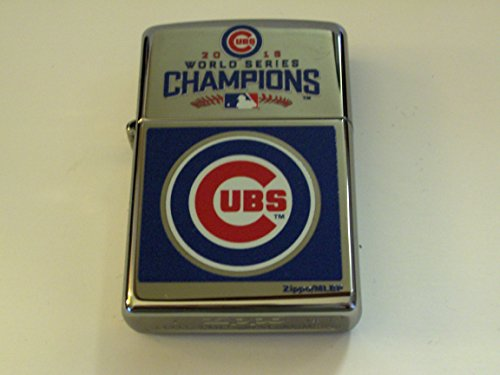 Zippo MLB Chicago Cubs 2016 World Series Champions High Polish Chrome Lighter