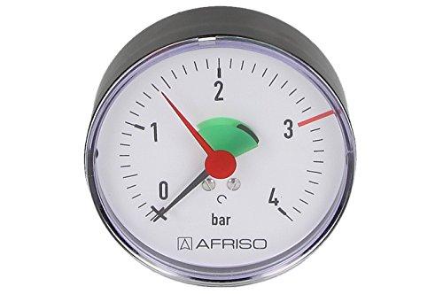 80 mm 0-2,5//4 bar,/¼ axial Afriso Heizungsmanometer