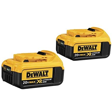 DEWALT DCB204-2 20V Max Premium XR Li-Ion Battery, 2-Pack