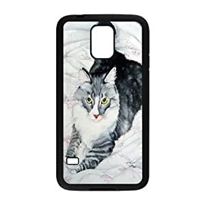 High Quality Phone Back Case Pattern Design 6Grumpy Cat,Because Cats- For Samsung Galaxy S5