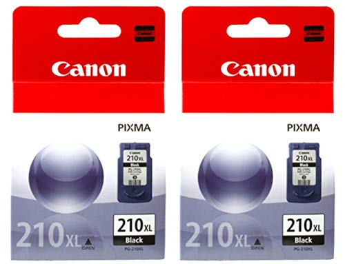 Canon PG-210XL Black Ink Cartridge Double Pack (Canon Pg 210 Xl Black Ink Tank)