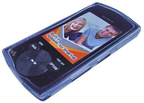 iShoppingdeals - for Sony Walkman NWZ-S544 NWZ-S545 MP3 Player TPU Rubberized Silicone Skin Case, Smoke/Grey