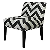 SOLE Designs Chloe Collection Armless Living Room Accent Chair/Upholstered Slipper Chair