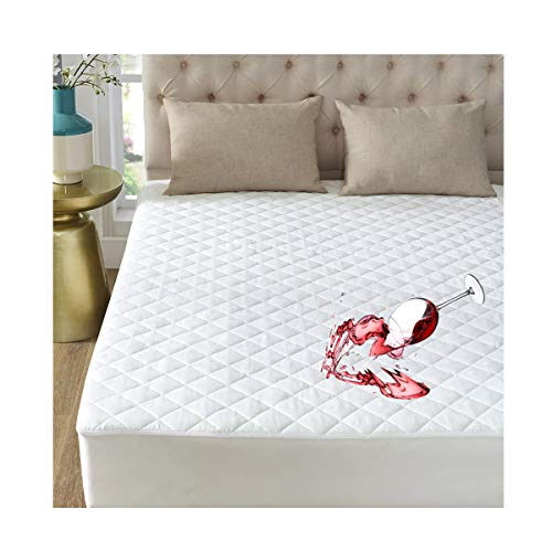 "- GIGIZAZA Twin Mattress Protector Pad Covers,100% Waterproof Medium-Soft Quilted Mattress Protector,Hypoallergnic,Dust Mite Protection,Fitted 8-18"" Deep Pocket .10 Year Warrant"