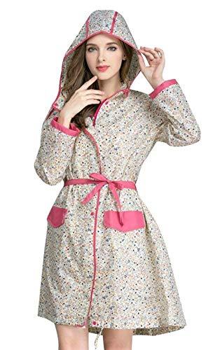 Para Senderismo Beige Agua Chaqueta Mujer Hood Con Zipper Air Moda Lady Casual Impermeable Gabardina De La Completa Cinturón Lluvia TaUgxqdwa