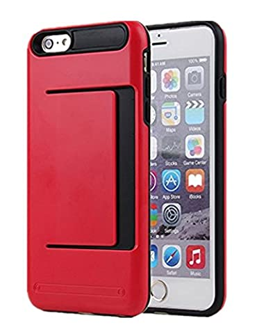 iPhone 5S Case, Asstar Wallet case Card Slot [Anti Scratch] Dual Layer Shockproof [Soft TPU] & Hybrid Hard PC Back Cover Armor for Apple iPhone SE 5S 5 (Red (Cheap Iphone 5 Speck Cases)
