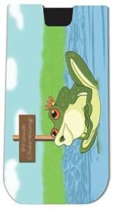 Rikki KnightTM Prince Charming Frog - Smart Phone Neoprene Protective Pouch for iPhone 4/4s/5/5s/5c, Motorola Moto X, Galaxy S3/S4/Note 3/Ace 2, LG Optimus Gpro/G2/L3/4X HD, Sony Xperia Z1S/U, HTC Droid/One/One X/Pro/mini, Blackberry G10/Z10, Nexus 4/5, An