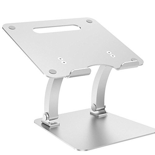 Price comparison product image NQFL Apple Laptop GWDZX Aluminum Alloy Universal Bracket Lift Notebook Cooling Base Laptop Table Perfect Gift Reading Rack, Silver-22.721.2cm