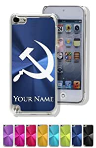 iPod 5 Case/Cover - HAMMER AND SICKLE / COMMUNIST SYMBOL - Personalized for FREE (Click the CONTACT SELLER button after purchase and send a message with your case color and engraving request)