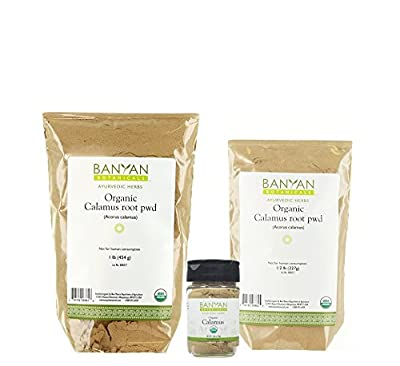 Banyan Botanicals Calamus Powder - Certified Organic, Acorus calamus - Highly aromatic herb that is used externally to help remove massage oil*