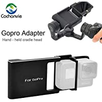Cochanvie Aluminum Alloy Switch Plate Board Accessories for GoPro Hero 7 6 5/ Xiaomi/SJCAM etc. Action Cam to Mount on Osmo Mobile 2 3/ Zhiyun Smooth 4 3 2 C Q Handheld Gimbal Stabilizers