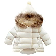Baby Boys Girls Down Puffer Thick Hooded Snowsuit Winter Warm Windproof Jacket
