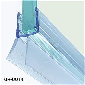 Glass House Sello en forma de pluma para cabina de ducha GH-UO14 Sello para vidrio de 6-8 mm de longitud 100 cm, hecho de silicona de la más alta calidad resistente a