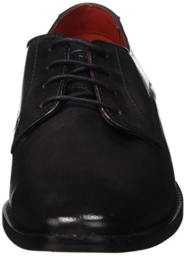 Base London Sussex - Zapatos Hombre Negro - Noir (Washed Grey)