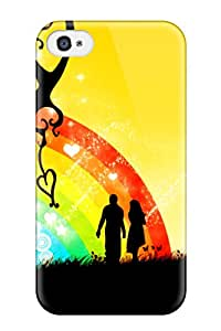 Evelyn Alas Elder's Shop 6652990K28141420 Perfect Tpu Case For Iphone 4/4s/ Anti-scratch Protector Case (love Rainbow)