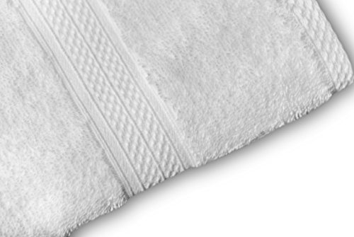 MAHI HOME Set of 6 Piece Terry Towel, 100% Ring Spun Combed Cotton, Heavy Weight & Highly Absorbent, Ultra Soft Hotel & Spa Quality - 2 Bath Towels, 2 Hand Towels, 2 Wash Cloths– White by MAHI HOME (Image #2)