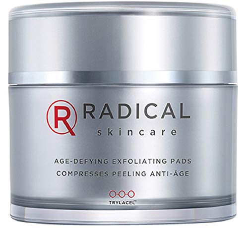 Radical Skincare Age Defying Exfoliating Pads, 4.35 Oz. (Maximum Radiance Exfoliating Gel)