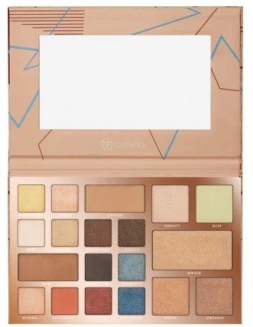 BH Cosmetics Eyeshadow Highlighter Palette, Desert Oasis