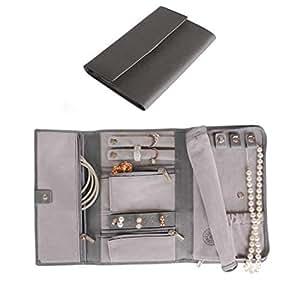 Saffiano Leather Travel Jewellery Case - Jewellery Organiser [Petite] by Case Elegance