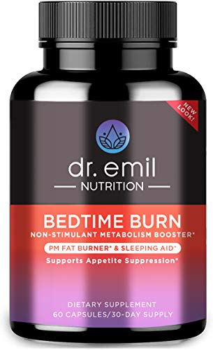 Dr. Emil Nutrition Bedtime Burn PM Fat Burner, Sleep Aid and Nighttime Appetite Suppressant, Stimulant-Free Weight Loss…