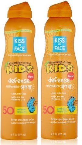 Kiss Kids Obsessively Natural (Kiss My Face Kids Defense Continuous Spray Natural Sunscreen SPF 50 Sunblock, 6 Ounce (2-Pack))