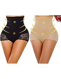 YaShaer 2 Pack Body Shaper High Waist Tummy Control Butt Lifter Slim