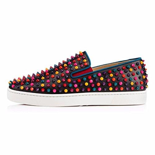 Nero Uomo Slip I Punti Sneakers Cuckoo Mocassini per su Fashion Nero con AawHqF4w
