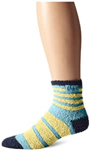 Life is good Women's LW Snuggle Stripes Crew Socks, Surfer Blue, One Size