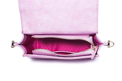 Barbie BBFB192 Bolso de forma Irregular Bolso de Hombro de Dibujos de Rosa morado suave