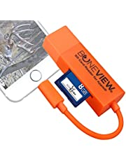 Trail Camera Viewer for iPhone, Corded SD Memory Card Reader Plays Video & Photo on All Latest Apple iOS iPad and iPhone Models
