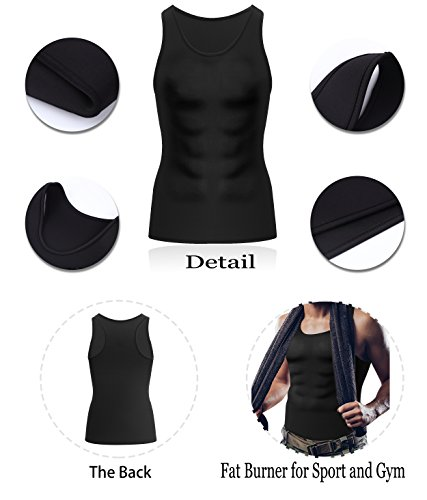 Comery Men Waist Trainer Corset Vest For Weight Loss Hot Neoprene Body Shaper Tank Top Sauna Suit Shirt No Zip Trimmer