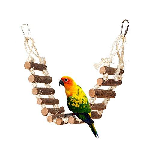 HongYH Bird Toy Natural Rope Step Bird Ladder Bird Bridge Squirrel Swing by by HongYH