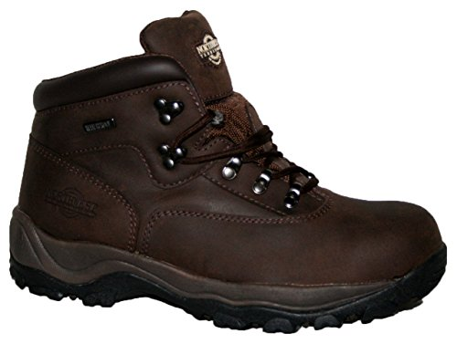 MENS INUVIK FULLY WATERPROOF LACE UP WALKING/HIKING TREKKING BOOT Waxy Brown jC7AVHw
