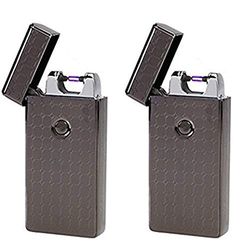 Saberlight 2 Pack - Rechargeable Flameless Plasma Beam Lighter - Electric Lighter - Plasma Lighter - Rechargeable - no Butane - splashproof - Windproof
