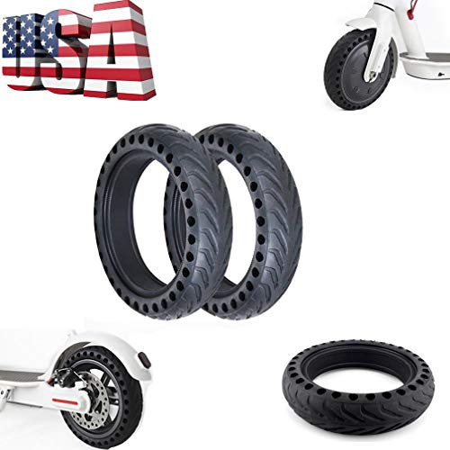 Replacement Solid Vacuum Tires Explosion-Proof Tire Replace for Xiaomi Mijia M365 Electric Skateboard Scooter Non-Pneumatic Vacuum Wheel (Black)