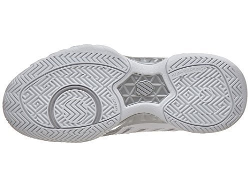 K-Swiss Junior Bigshot Light 3 Tennis Shoes (White/Silver) (5 US)