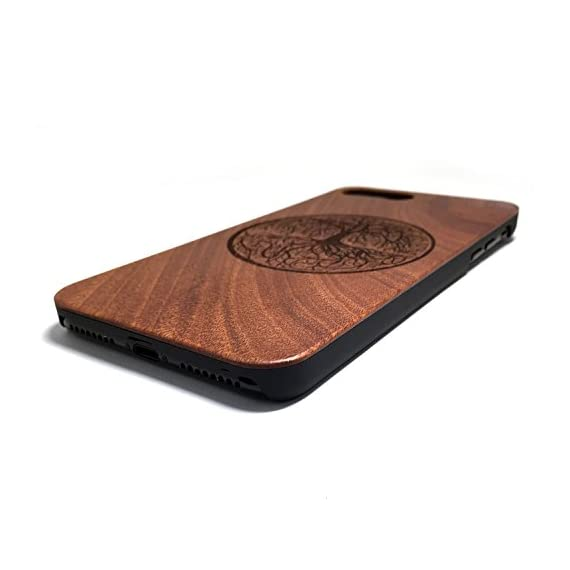 BTHEONE iPhone 7 PLUS Case, Slim Wood Protective Cover Case for iPhone 7 PLUS ,Handmade Natural Solid Wood Case,Real wooden Case (Rosewood-Yggdrasill) 3 √ Compatible with iPhone 7 Plus (Not for iPhone7) √ Naturally wood different,each wood back has a unique grain and texture. √ Specially designed for iPhone 7 Plus, has precise design for speakers, charging ports, audio ports and buttons.