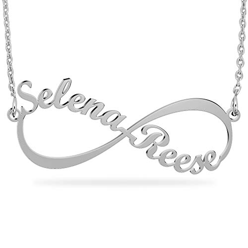 e3cba22f49957 Personalized Sterling Silver Infinity Name Necklace -Custom Made Any Two  Names ...
